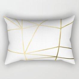 Gold Metallic Nodes Rectangular Pillow