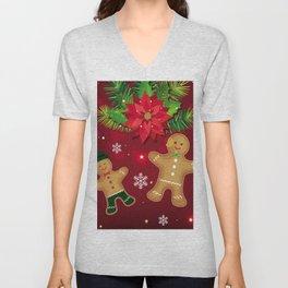 gingerbread man cookies Unisex V-Neck