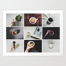 Morning stories - COFFEE set Art Print