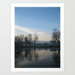 Winter Ripple Art Print