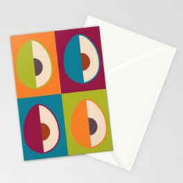Avocado   Retro Style Stationery Cards