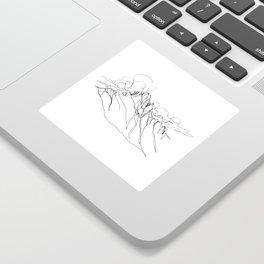 Alpha - Single Line Sticker