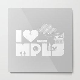 I Heart MPLS Metal Print