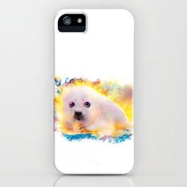 curious seal iPhone Case