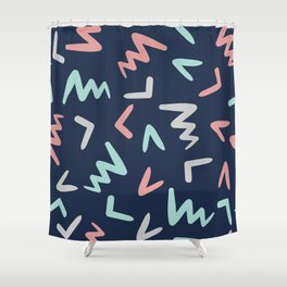 Abstract Letters Pattern Shower Curtain