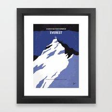 No492 My Everest minimal movie poster Framed Art Print
