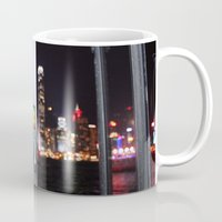hong kong Mugs featuring Hong Kong  by Chernyshova Daryna