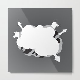 Abstract Rumination Metal Print