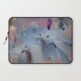 Dream Gliding Cityscape Flash Laptop Sleeve