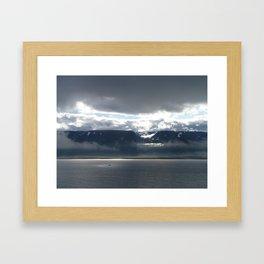 Sun on an Icelandic Fjord Framed Art Print