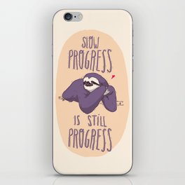 sloth progress iPhone Skin