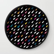 Bright Droplets Wall Clock