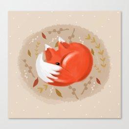 Sleeping fox Canvas Print