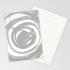 Swirl Pale Gray Stationery Cards