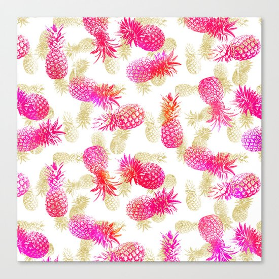 Pineapple Party Canvas Print