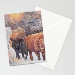 Three Cows Stationery Cards