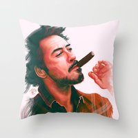 actor Throw Pillows featuring Mr Downey, Jr. by Thubakabra