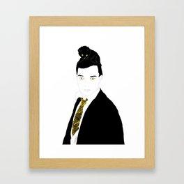 Buster Keaton Famous & Cats Serie Framed Art Print