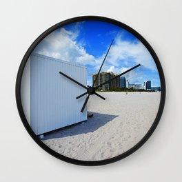 beach box Wall Clock