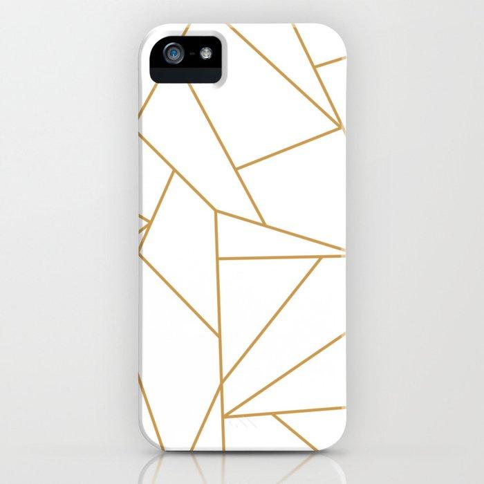 Geometric Gold Hexagon Pattern iPhone Case