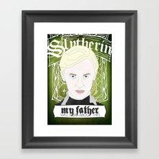 Draco Malfoy from Harry Potter  Framed Art Print