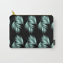 Palm Leaves Pattern #2 #Mint #Black #decor #art #society6 Carry-All Pouch