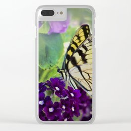 Yellow Swallowtail Clear iPhone Case