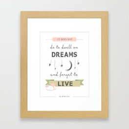 J.K. Rowling Quote Framed Art Print