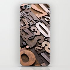 Numbers - Typography Photography™ iPhone & iPod Skin