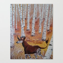 Okapicorn Forest Canvas Print