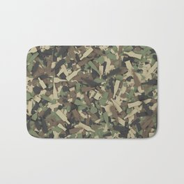 Forest alcohol camouflage Bath Mat