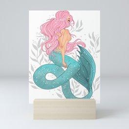 Pastel Mermaid Mini Art Print