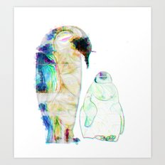 Remix Emperor Penguins Art Print
