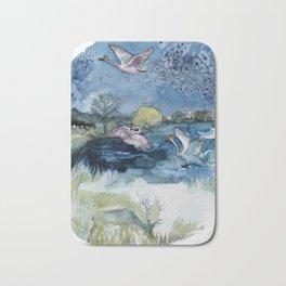 King Swans Bath Mat