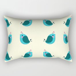 Birdy Wordy Rectangular Pillow