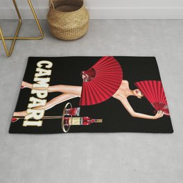 Vintage Bitter Campari Lithograph Advertisement Rug