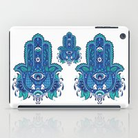 hamsa iPad Cases featuring Hamsa by Miss ChatZ