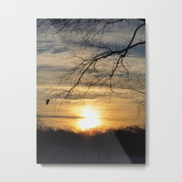 Winter's Caress of Sleeping Life Metal Print