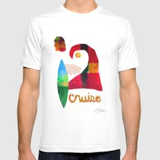 Cruise MEDIUM White Mens Fitted Tee