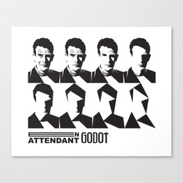 Samuel Beckett-En attendant Godot-Waiting for Godot Canvas Print