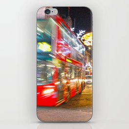 Red buses iPhone Skin