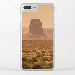 Desert Warmth Clear iPhone Case