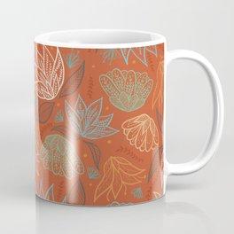 Bohemian Florals in Orange Coffee Mug