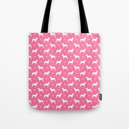 boston terrier silhouette pattern Tote Bag