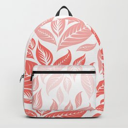 LIVING CORAL LEAVES 3 Backpack