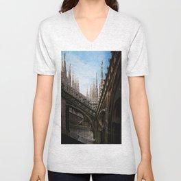 Duomo di Milano spires Unisex V-Neck