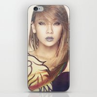 2ne1 iPhone & iPod Skins featuring 2NE1 CL by Margot Park