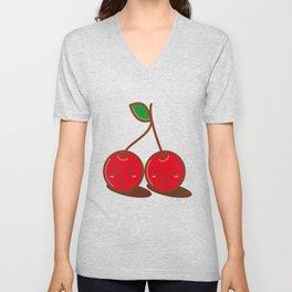 Kawaii Cherries Unisex V-Neck