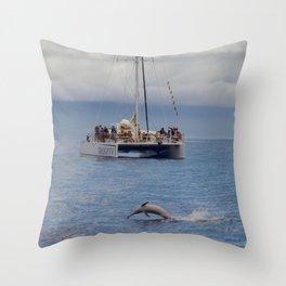spinner dolphin Throw Pillow