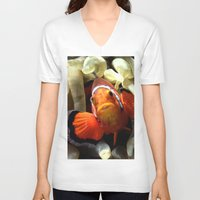 finding nemo V-neck T-shirts featuring Nemo  by RevatiN